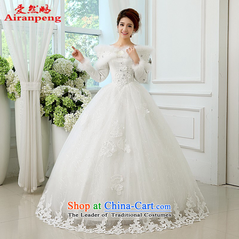 Korean won warm long-sleeved princess version straps wedding dresses of the 2014 Winter winter, winter sweet strap�XXXL wedding need to be made are not returnable