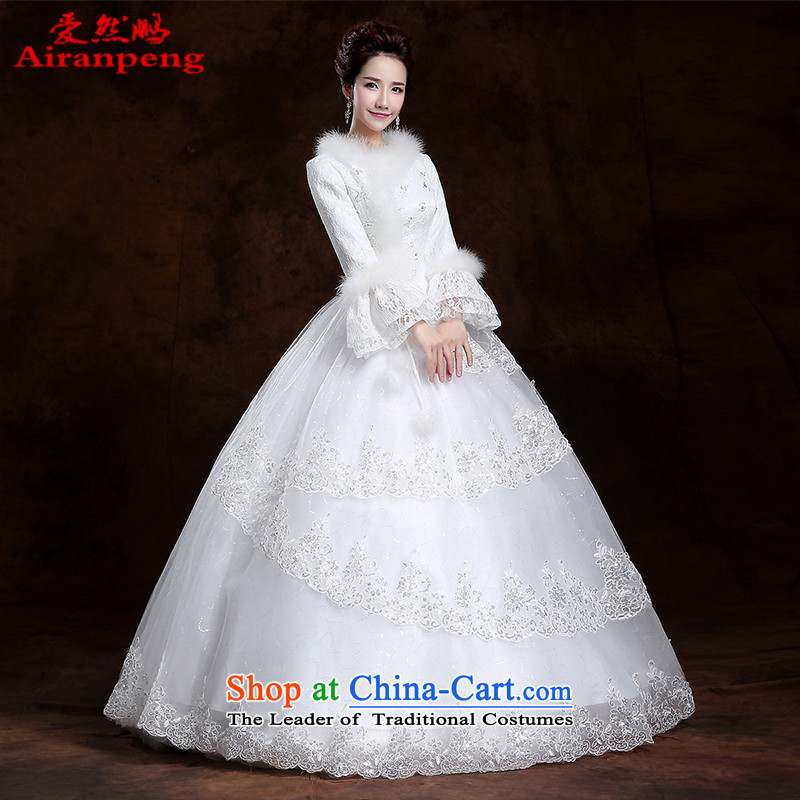 The 2014 winter to bind the new alignment with long-sleeved wedding dresses thick cotton plus a field shoulder wedding custom code�XL package returning
