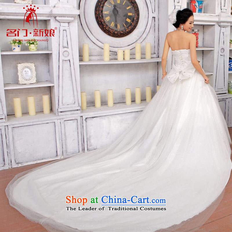 A bride wedding dresses bon bon princess wedding tail anointed chest wedding sweet wedding 845 tail L