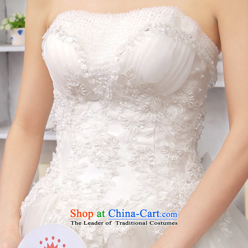 A bride wedding dresses bon bon princess wedding tail anointed chest wedding sweet wedding 845 tail , L, a bride shopping on the Internet has been pressed.