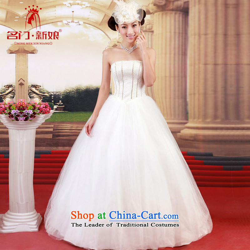 A bride wedding dresses Korean anointed chest princess?new 2015 to align the sweet elegant wedding 711 M