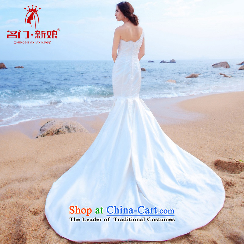 A Bride wedding dresses crowsfoot) wedding dresses, fell onto the ground long gown marriage wedding 838 L