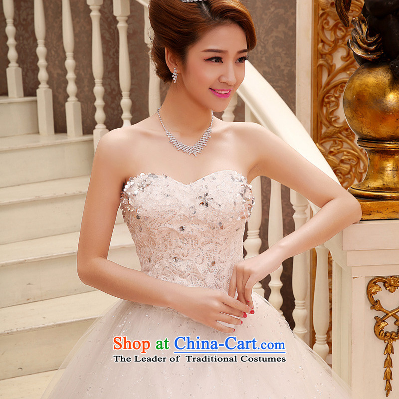 The privilege of serving-leung 2015 New Princess Bride stylish Korean wedding dress and chest to bon bon skirt weddingXXL, white honor services-leung , , , shopping on the Internet