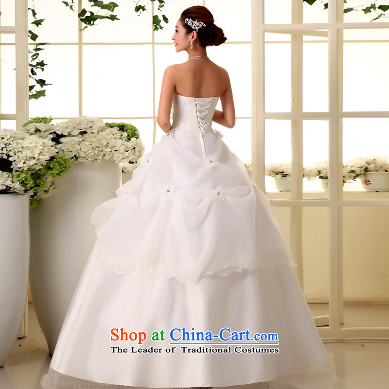 The privilege of serving-leung new Korean Bridal Fashion 2015 wedding dress princess sweet words to his chest wedding dress white聽XXXL, honor services-leung , , , shopping on the Internet