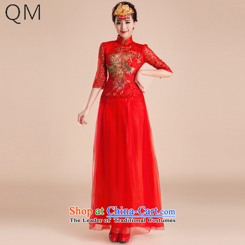 The end of the light (QM) wedding dresses qipao gown of nostalgia for the marriage to a drink bride improved stylish long?CTX QP83?RED?XXL