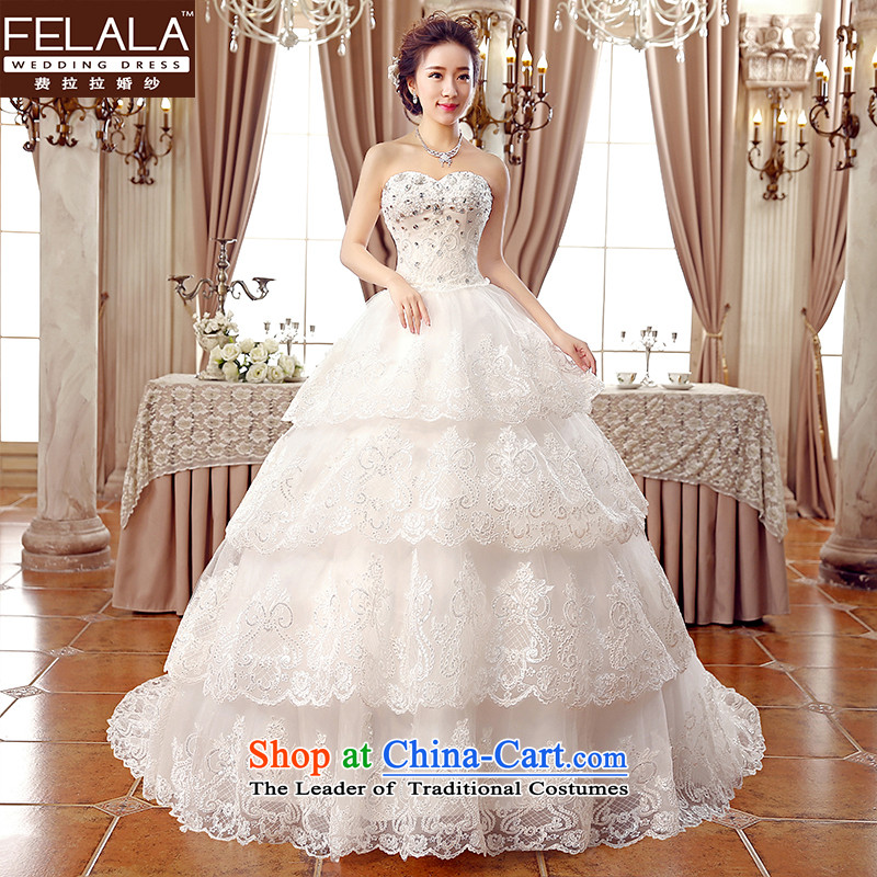 2015�new wedding sexy anointed chest luxury grand tail lace water drilling bride wedding�L(2 feet 1)
