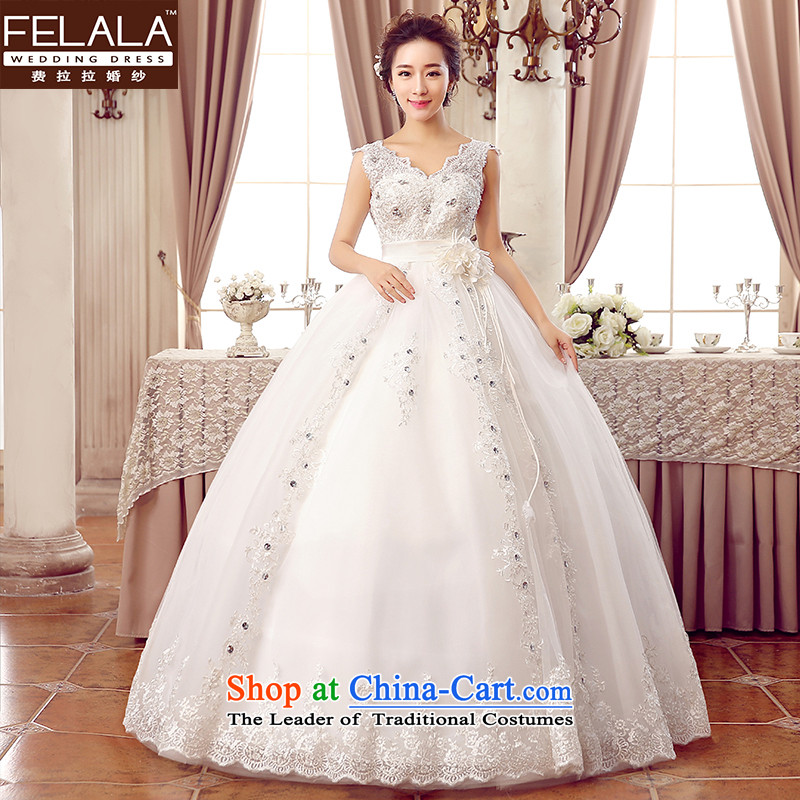 2015聽New Wedding Korean Top Loin of noble lace water drilling shoulders wedding聽M_2 feet_