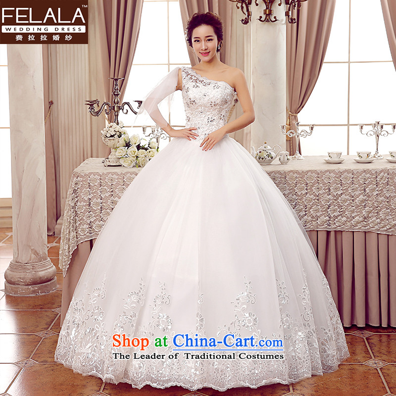 Ferrara聽2015 new marriage Korean sweet shoulder ribbons water drilling wedding聽XL_2 feet 2_