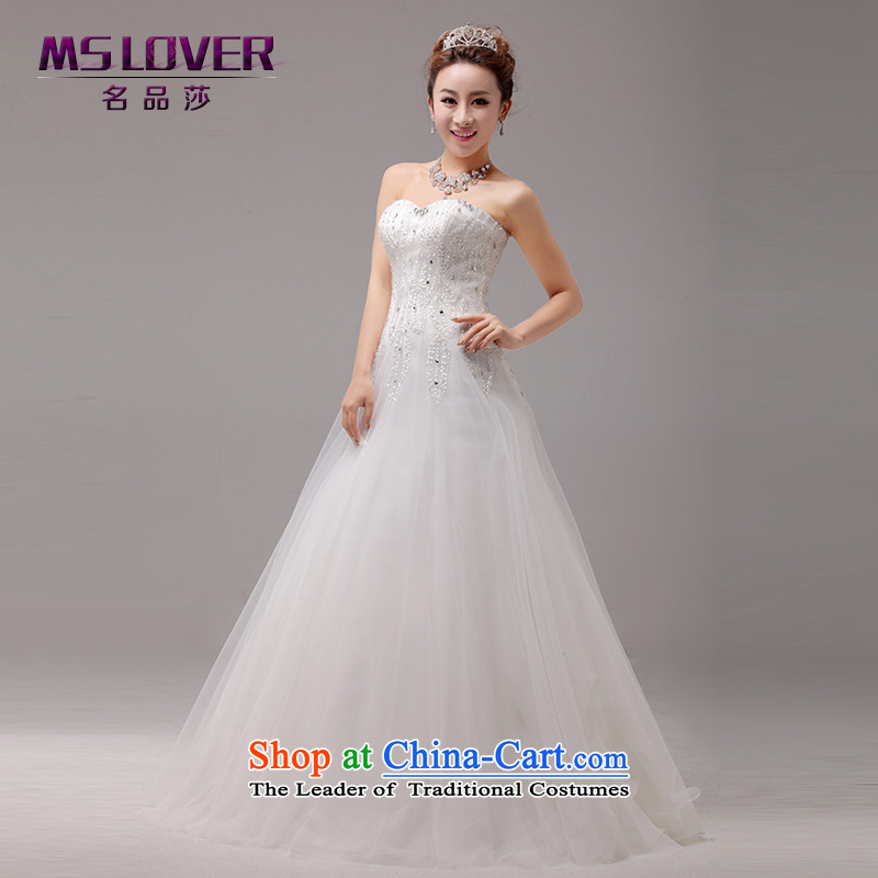 The luxurious crystal hand-crafted mslover Princess Bride anointed chest wedding video thin align temperament Sau San to bind with a swing Wedding 2275 m White 2 feet) of PUERTORRICANS waist