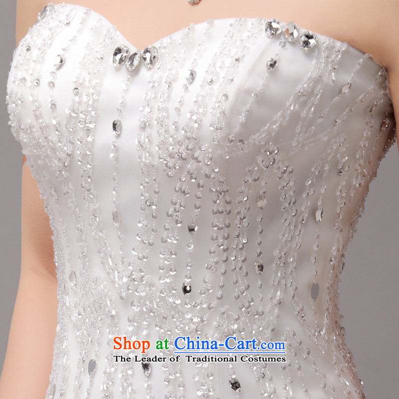 聽The luxurious crystal hand-crafted mslover Princess Bride anointed chest wedding video thin align temperament Sau San to bind with a swing Wedding聽2275聽m聽2 feet of white PUERTORRICANS waist) Name of Lisa (MSLOVER) , , , shopping on the Internet
