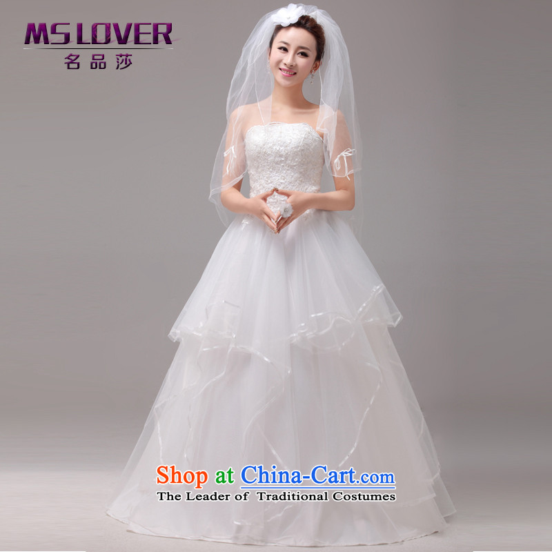 The beauty of small fresh mslover align to the bride out of Mary Magdalene chest bride Wedding 2014 new strap for larger wedding HS131003 rice white?XS( waist 1 foot 9)
