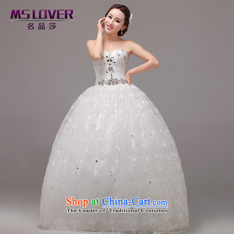 The Korean version of the video   mslover thin Princess Bride out a wedding lace anointed chest diamond align to bind with bride wedding HS131006 rice white�2 feet) of PUERTORRICANS waist
