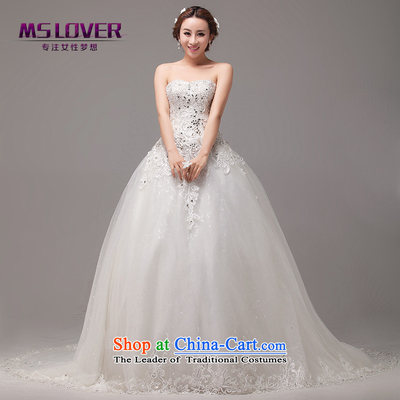 �Large tail mslover wedding bride anointed chest wedding diamond lace princess temperament wedding main wedding�HS131010�alignment to�2 feet 1 M waist