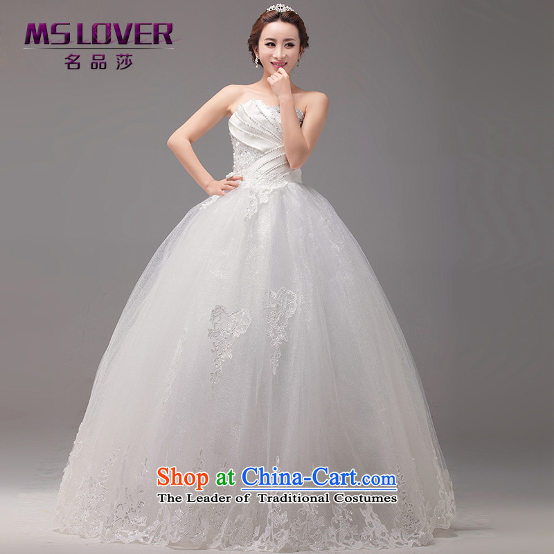 聽The Korean version of seashells mslover Princess Bride Sau San video thin and chest straps to bride wedding聽HS131012聽rice white聽M 2 feet 1 waist