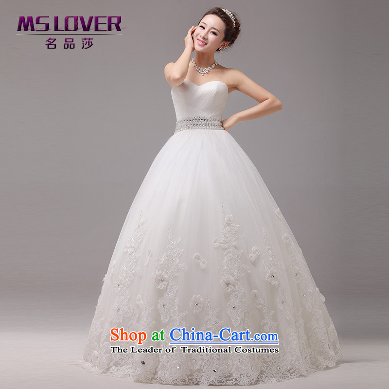 ?Large tail mslover wedding Princess Bride wedding anointed chest Diamond Video thin wedding custom Korea wedding HS131001?XS( to align the waist 1 foot 9)
