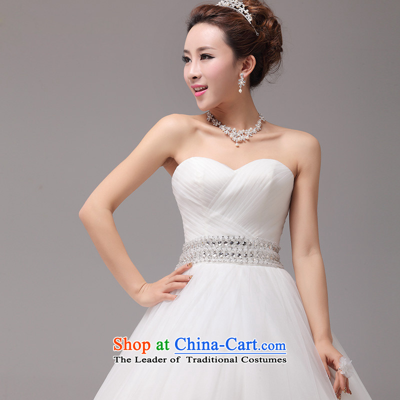Large tail mslover wedding Princess Bride wedding anointed chest Diamond Video thin wedding custom Korea wedding HS131001XS( to align the waist of 1 foot) Lisa (MSLOVER) , , , shopping on the Internet