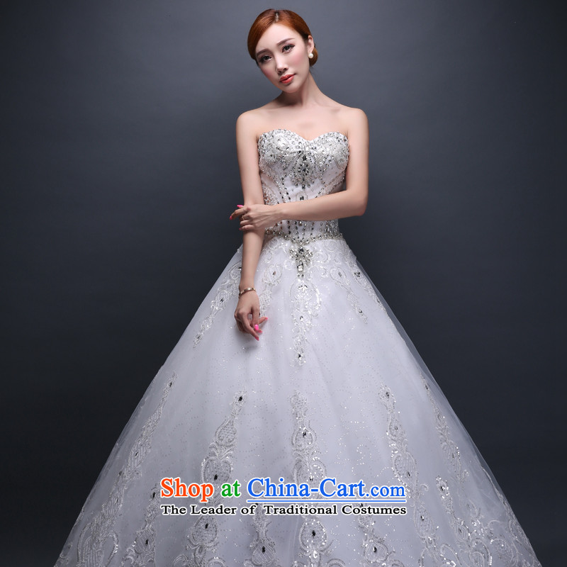 Hei Kaki wedding dresses new 2015 autumn and winter and stylish large marriage chest straps to align the wedding ivory聽XS