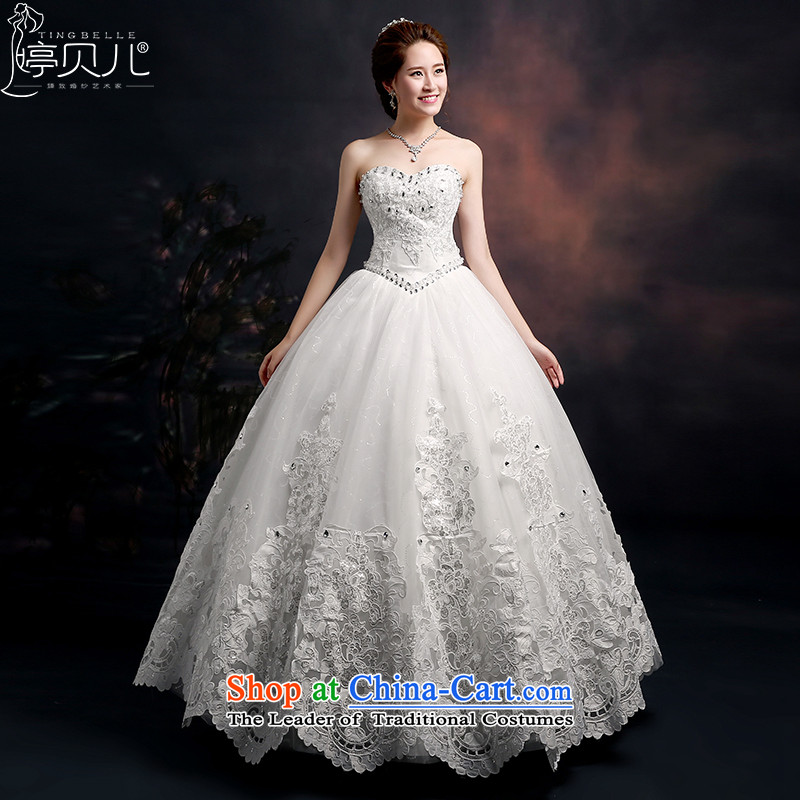 Beverly Ting wedding dresses 2015 new marriages stylish Korean bridal suite and chest video thin large Sau San straps to align the white?L