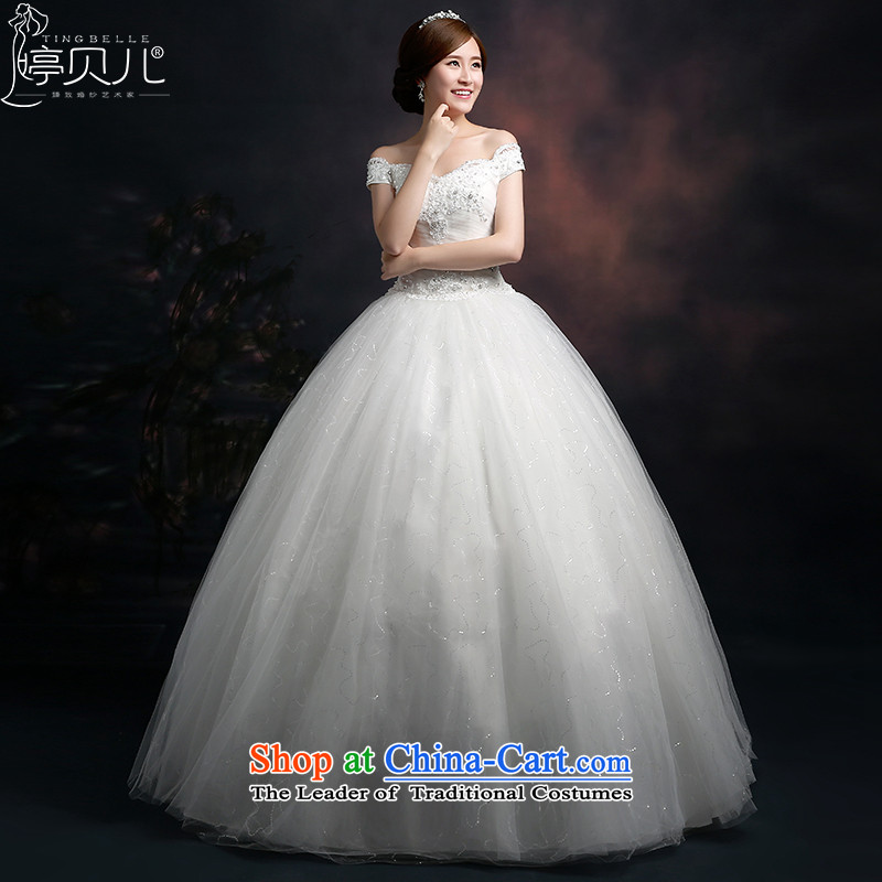 Beverly Ting shoulders Wedding 2015 new spring and summer Korean fashion lace wedding dresses to align with larger inbox as graphics thin white?S