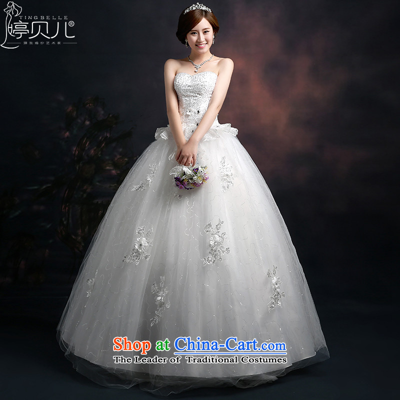 Beverly Ting wedding dresses 2015 new Korean fashion shoulders wedding dresses video thin large white code align   of the funds from the white M