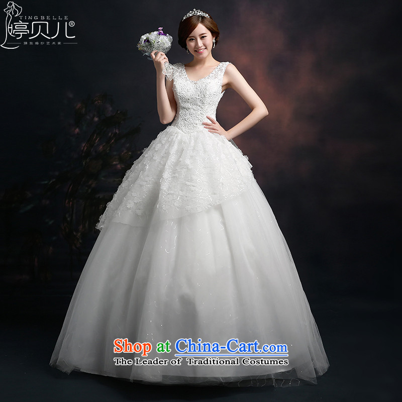 Beverly Ting wedding dresses 2015 new stylish marriages shoulders wedding video thin lace Korean version of     white to align the White?XXL