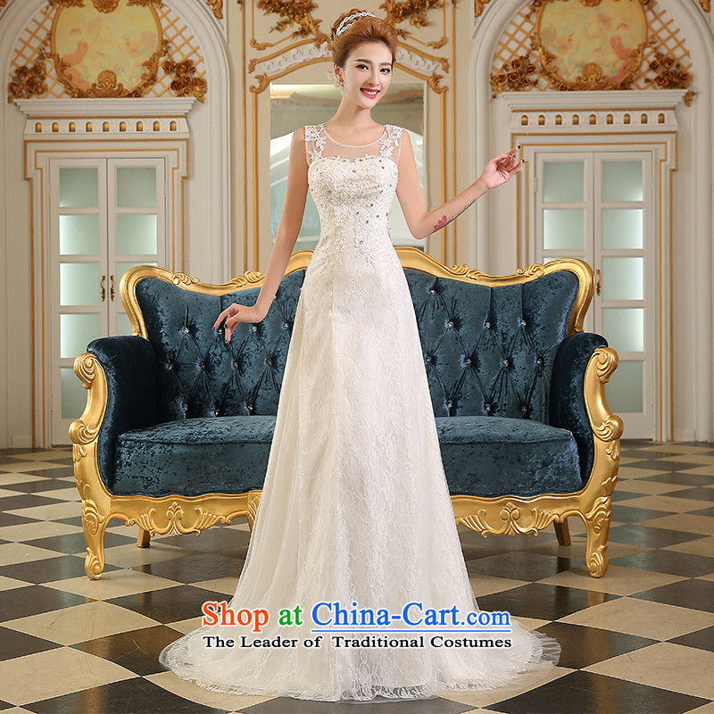 The Republika Srpska divas wedding dresses 2015 new word summer shoulder stylish bride wedding shoulder larger tail wedding Sau San tie crowsfoot wedding white long white H14017 tailored