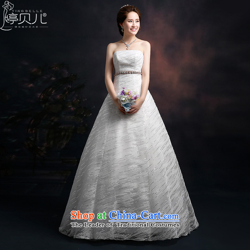 Beverly Ting Wedding 2015 Spring New tie straps stylish wedding wiping the chest to Sau San video thin Korean summer bon bon skirt White聽M