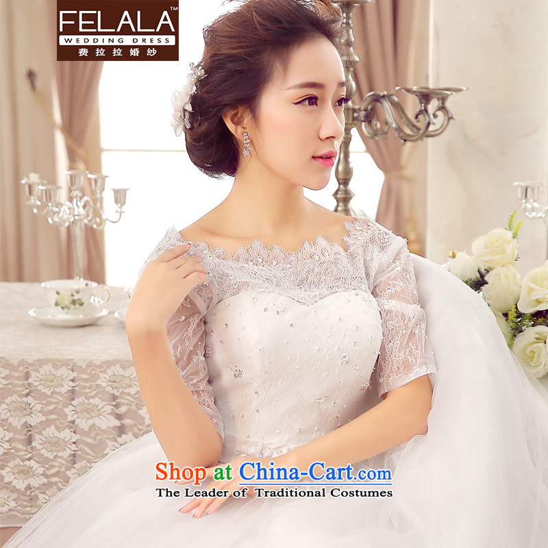 2015聽new Korean irrepressible lace Nail-tail pearl bride wedding聽S(1 feet) of Ferrara wedding (FELALA) , , , shopping on the Internet