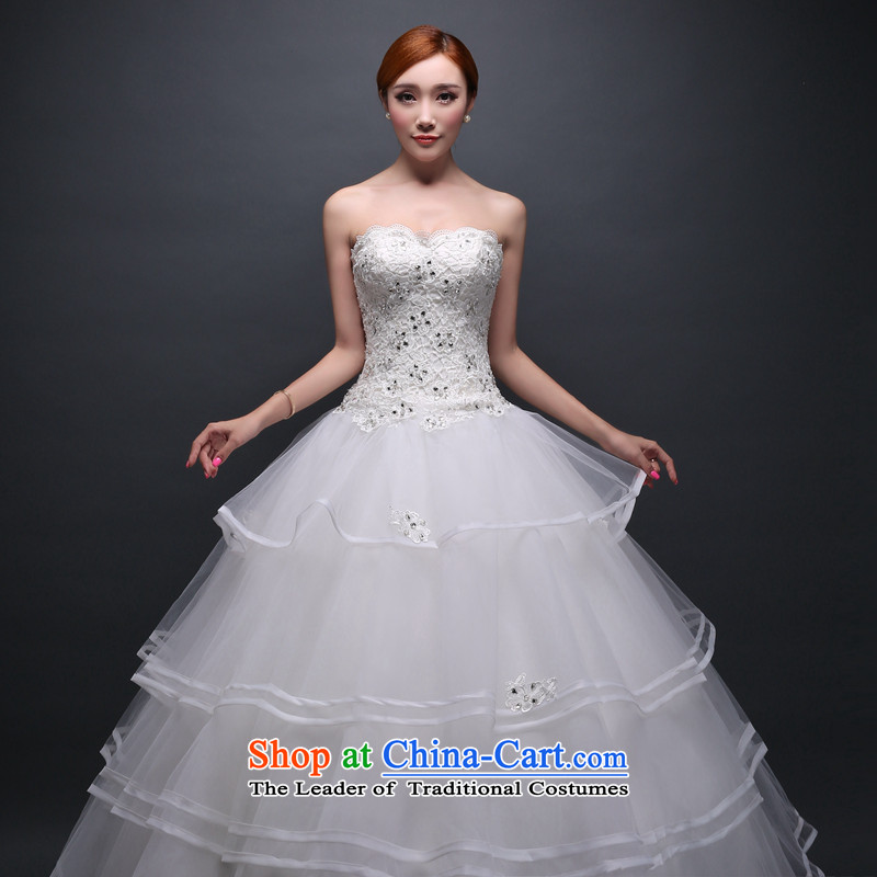 Hei Kaki wedding dresses new 2015 autumn and winter Princess Bride anointed chest stylish align to bind with wedding ivory?S