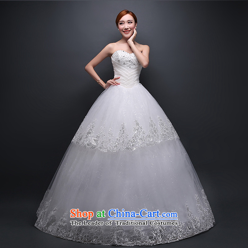 Hei Kaki wedding dresses new 2015 autumn and winter stylish anointed chest irrepressible lovely wedding code to bind the video thin alignment with wedding ivory聽M