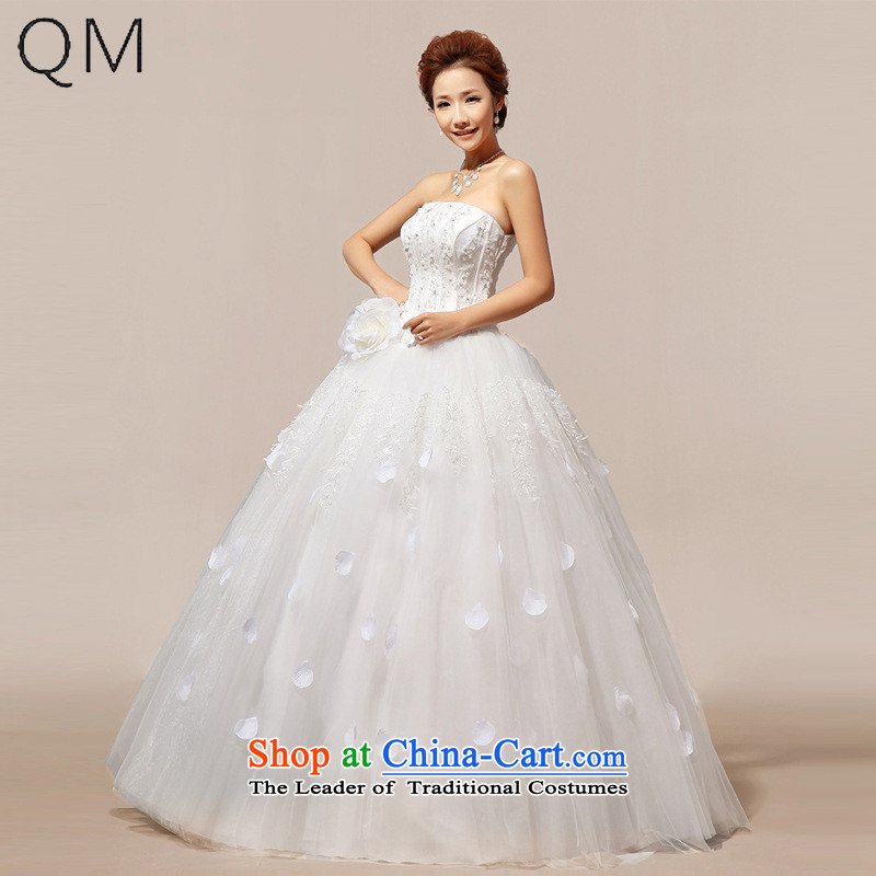 The end of the light (QM) Bride Korean wedding sweet flowers marriages wedding dresses?CTX HS118?m White?S