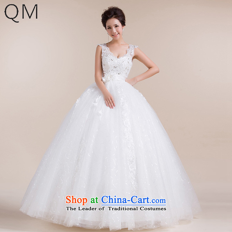 The end of the light (QM) Bride wedding dresses and stylish wedding Top Loin of pregnant women to align the?CTX HS1020 retro-?white?S