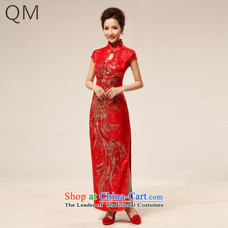 The end of the light (QM) sexy Chinese style qipao bride retro married improved qipao�CTX QP63 Red�Red�M