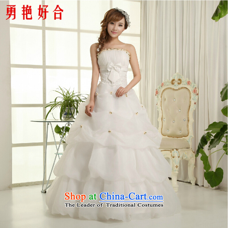 Yong-yeon and 2015 New wedding dresses wedding marriages wedding white Korean anointed chest to Princess van wedding now upgrade straps, m white streaks in the strap S