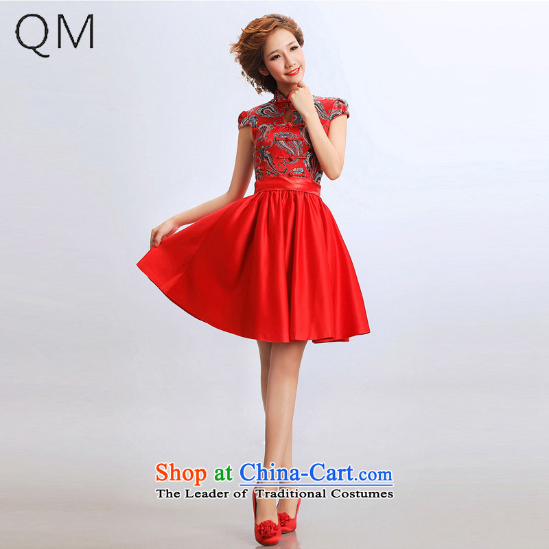 The end of the light (QM) short of qipao cheongsam wedding dresses improved bride wedding dress qipao�CTX�RED�M
