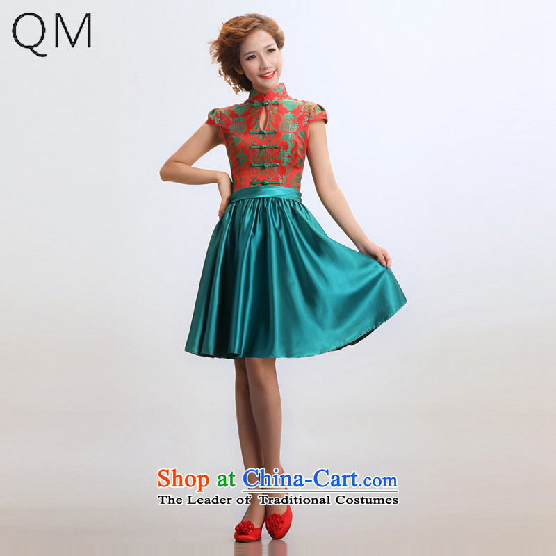 The end of the light (QM) short of qipao improved summer marriages wedding dresses qipao?CTX?RED?M