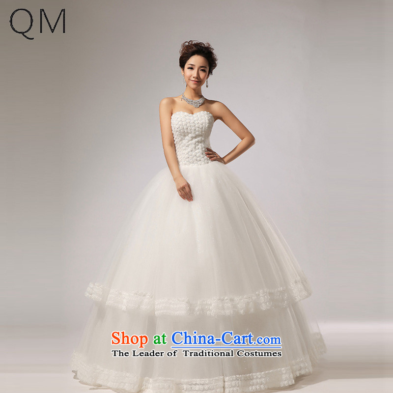 The end of the light _QM_ wedding canopy of Hamor chest skirt for Hotel Courtesy bride wedding dresses?CTX HS267?m White?XXL