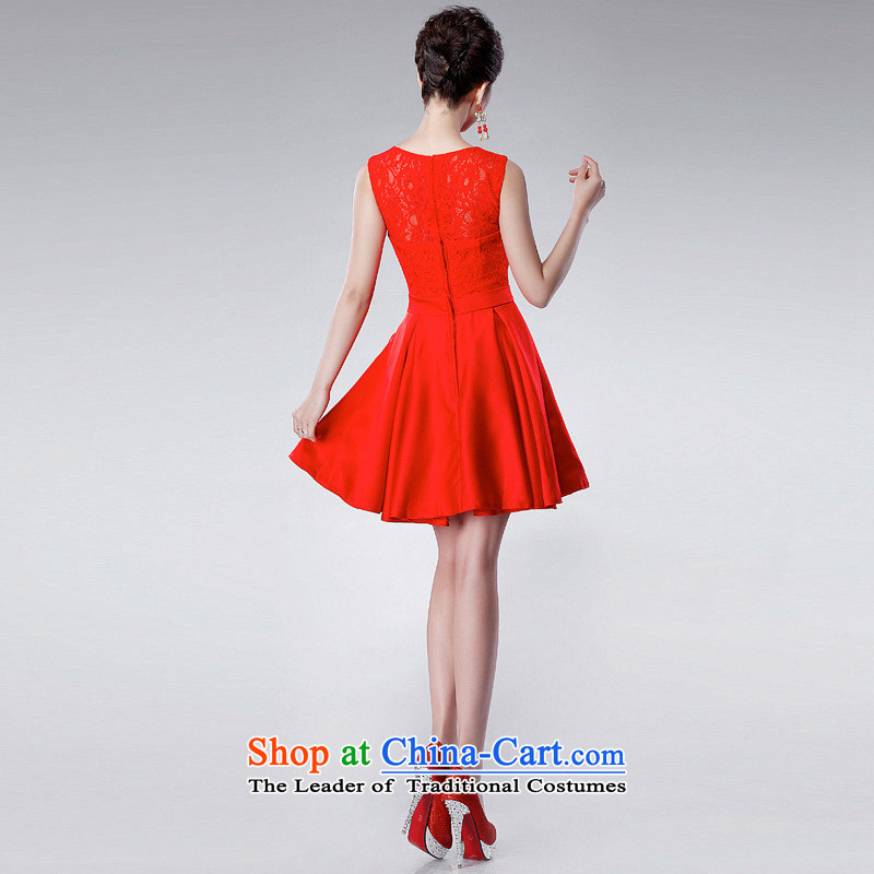 The end of the light (QM) bows to the shoulders of marriage and sexy small dress short of the wedding-dress LF175 RED S Shallow CTX end shopping on the Internet has been pressed.