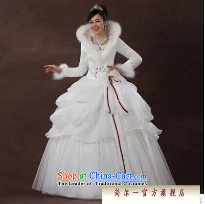 Naoji a 2014 new bride wedding dresses Korean straps winter wedding long-sleeved sweet plus cotton wedding js3189 white S picture, prices, brand platters! The elections are supplied in the national character of distribution, so action, buy now enjoy more preferential! As soon as possible.