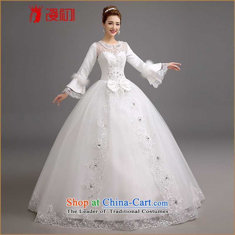 In the early?2015 new man winter wedding Korean winter video thin wedding winter) thick video thin bon bon skirt wedding dress white made contact customer service