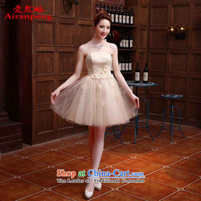 Love So Peng new Korean 2014 bridesmaid Dress Short, bon bon skirt bridesmaid sister skirt straps to serve small dress evening dresses�need not be made XXL returning