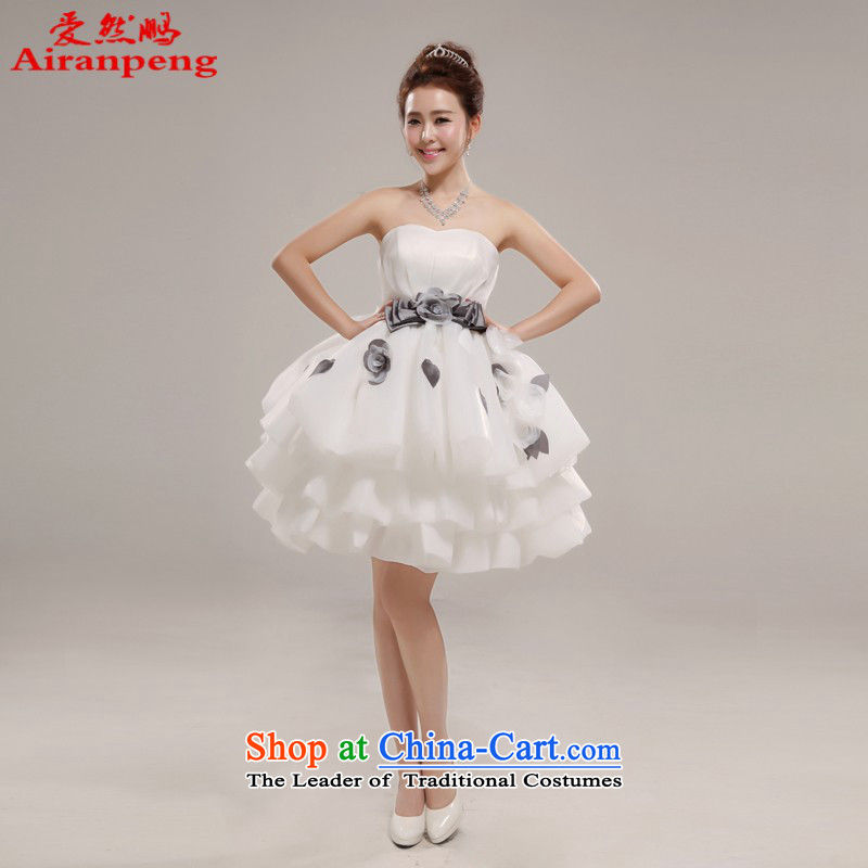 Love So Hamor the new 2014-pang chest bridesmaid small Wedding Dress Short, sweet princess birthday bon bon skirt XL package returning