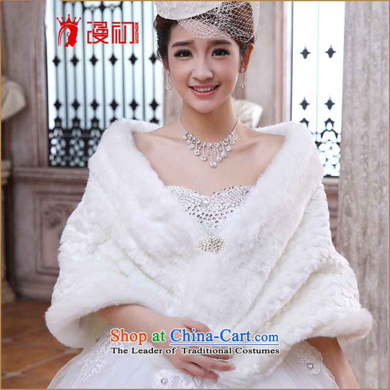In the early 2015 new man and Maomao shawl marriages shawl increase warm thick hair white white winter increase shawl shawl
