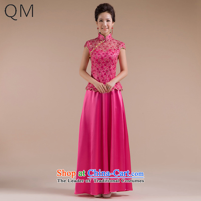 The end of the light _QM_ wedding dresses wedding dresses bride bows services retro qipao QP-111 CTX of marriage red XL