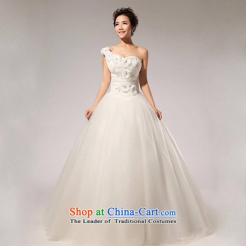 The end of the light (QM) Single shoulder straps wedding Flower Handmade bride wedding dressesCTX HS110M whitelight at the end of M , , , shopping on the Internet