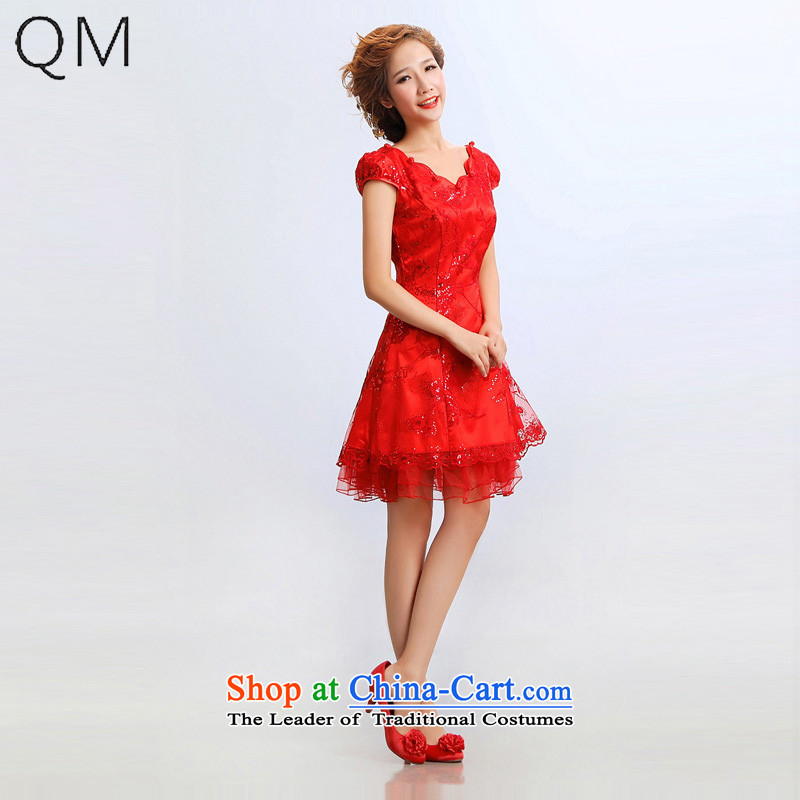 The end of the light (QM) wedding dresses skirt improved short fashion, the bride will qipao�CTX�RED�XL
