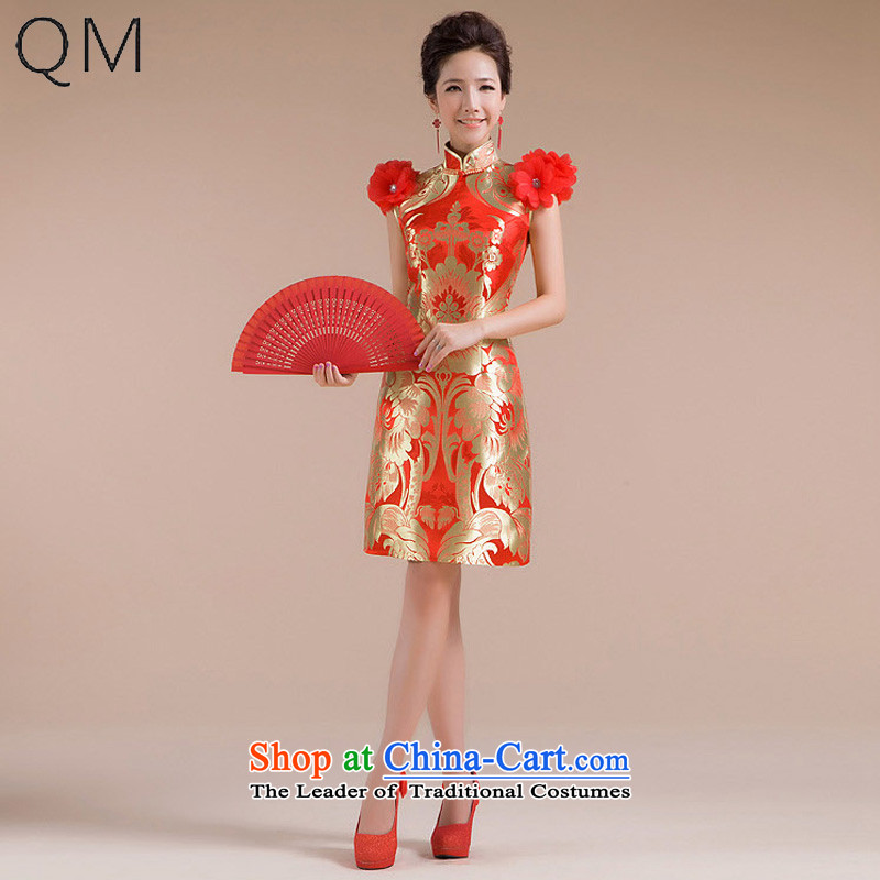 The end of the light (QM) Wedding ethnic short of Sau San marriages Chinese qipao?CTX QP-106 improved?red?S
