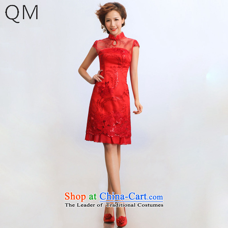 The end of the light (QM) wedding dresses bride wedding will improve the bridal dresses?CTX?RED?XL