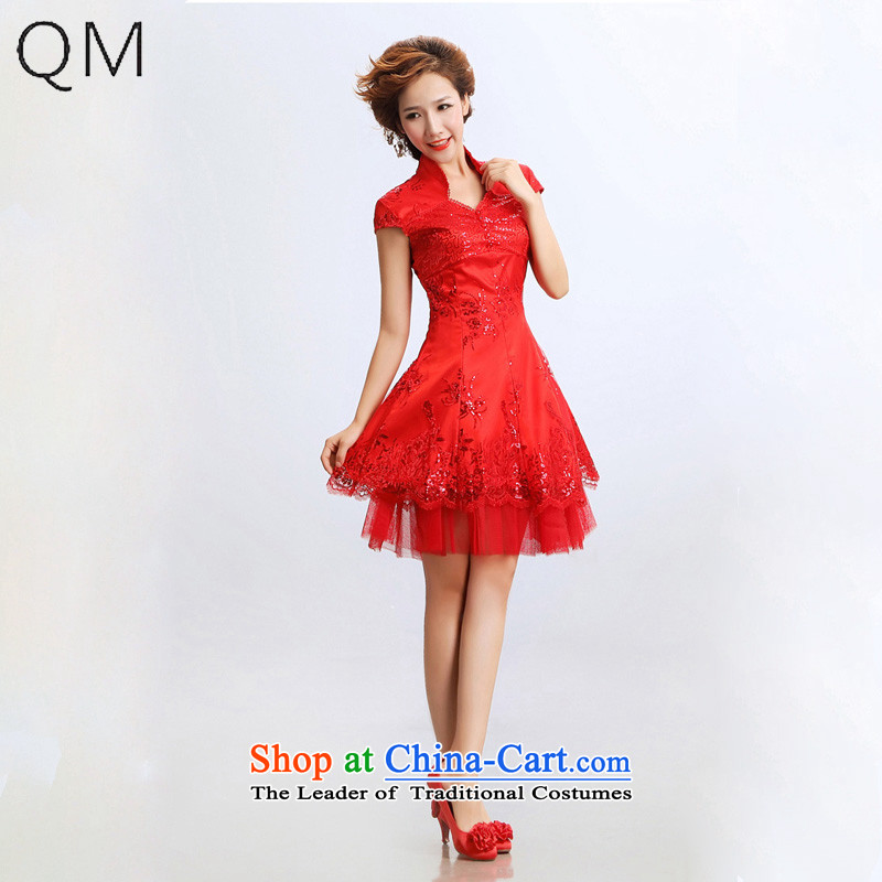 The end of the light _QM_ short of qipao improved stylish marriages qipao CTX RED聽M