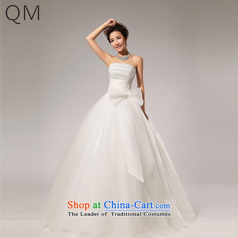 The end of the light (QM) Wedding anointed chest Korean wedding dress CTX HS59 m White�M